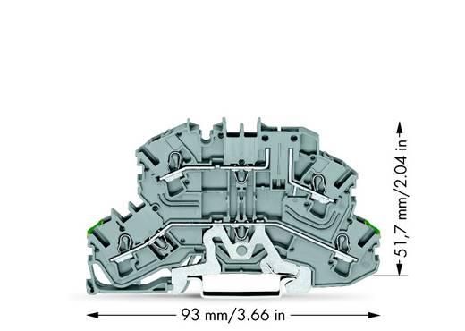 Doppelstock-Schutzleiterklemme 5.20 mm Zugfeder Belegung: PE, L Grau WAGO 2002-2657 25 St.