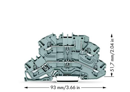 Doppelstock-Basisklemme 5.20 mm Zugfeder Belegung: L, L Grau WAGO 2002-2661 25 St.