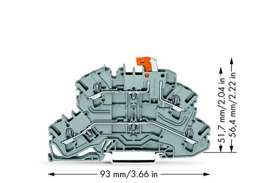 Trennklemme 5.20 mm Zugfeder Belegung: L, L Grau WAGO 2002-2671 25 St.