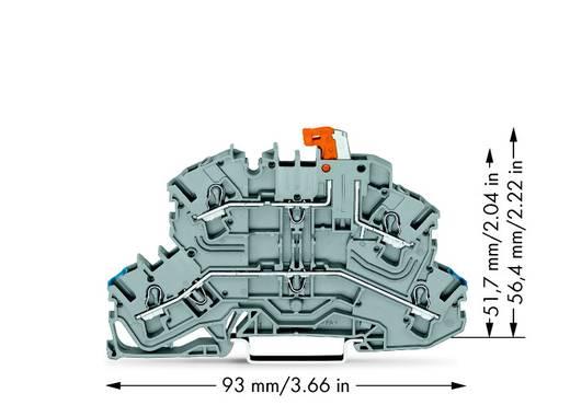Trennklemme 5.20 mm Zugfeder Belegung: N, L Grau WAGO 2002-2672 25 St.