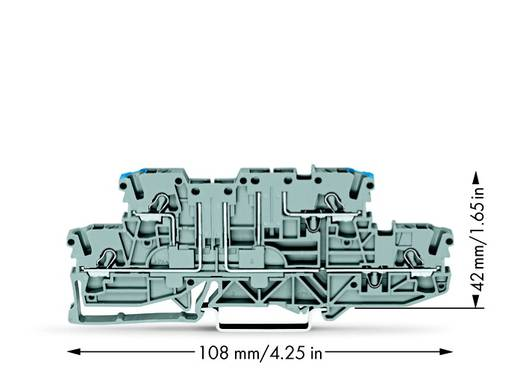 Doppelstock-Basisklemme 5.20 mm Zugfeder Belegung: L, N Grau WAGO 2002-2963 50 St.