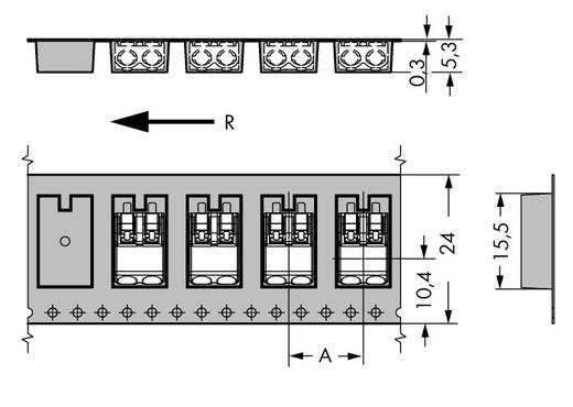 Federkraftklemmblock 0.75 mm² Polzahl 2 WAGO Schwarz 1000 St.