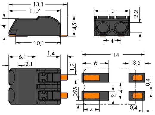 Federkraftklemmblock 0.75 mm² Polzahl 1 WAGO Schwarz 1500 St.