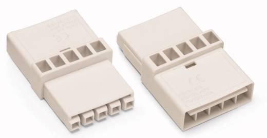 Netz-Zwischenkupplung Netz-Stecker - Netz-Buchse Gesamtpolzahl: 5 Weiß WAGO 50 St.