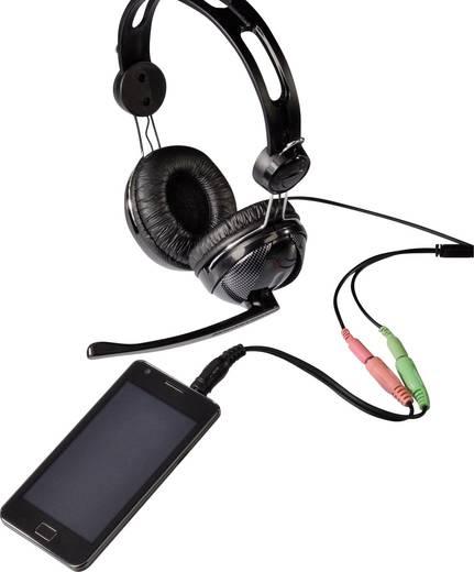 Klinke Audio Anschlusskabel [1x Klinkenstecker 3.5 mm - 2x Klinkenbuchse 3.5 mm] 0.10 m Schwarz Hama