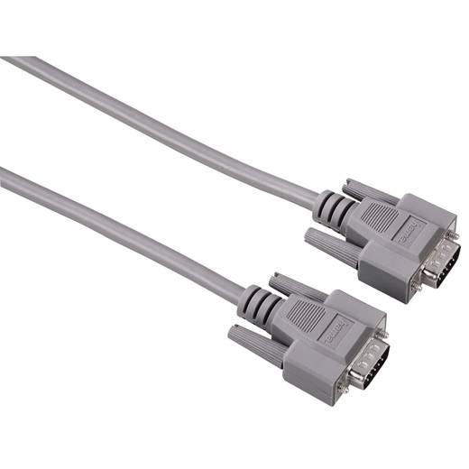 VGA Anschlusskabel [1x VGA-Stecker - 1x VGA-Stecker] 1.8 m Grau Hama
