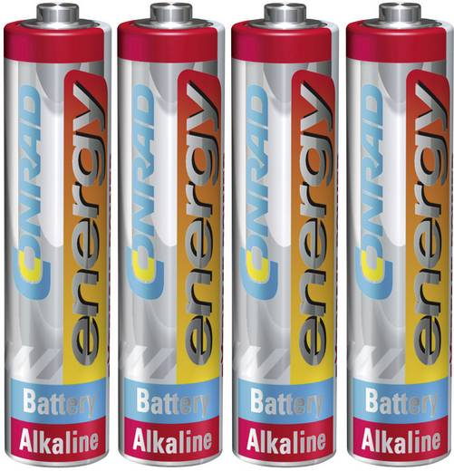 Micro (AAA)-Batterie Alkali-Mangan Conrad energy Extreme Power LR03 1.5 V 4 St.