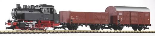 Piko G 37120 G Start-Set Dampflok BR 80 mit 2 Güterwagen der DB