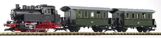 Piko G 37125 G Start-Set Dampflok BR 80 mit 2 Personenwagen der DR