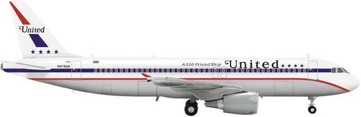"Luftfahrzeug 1:200 Herpa United Airlines Airbus A320 ""85th Anniversary Friend Ship"" 554671"