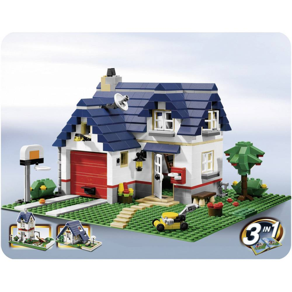 lego creator 5891 haus mit garage from. Black Bedroom Furniture Sets. Home Design Ideas