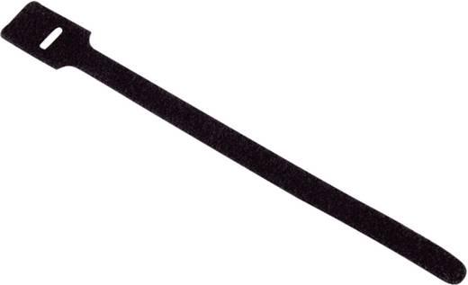 Klettkabelbinder zum Bündeln Haft- und Flauschteil (L x B) 200 mm x 12 mm Schwarz Dataflex 33.003 10 St.