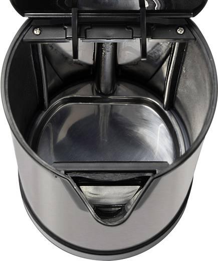 Wasserkocher schnurlos Clatronic WKS 3288 Silber (gebürstet), Schwarz