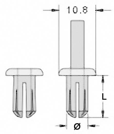 Spreizniete Loch-Ø 8 mm Schwarz KSS SRR0815 1 Pckg.