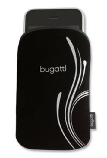 Bugatti Housse Silver B taille M Backcover Schwarz