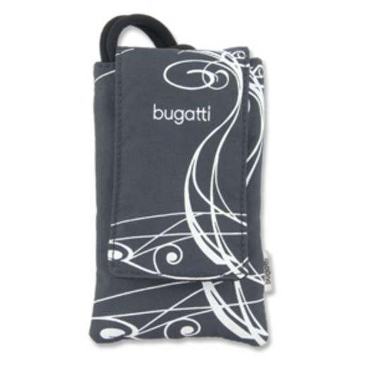 Bugatti Housse grise/blanche Flip Cover Schwarz