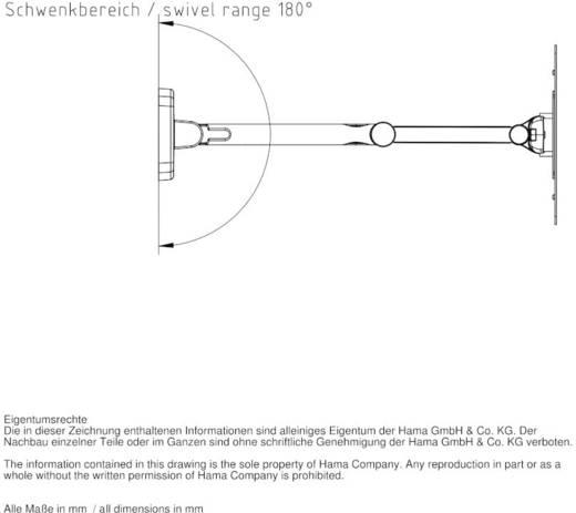 "Hama TV-Wandhalterung FULLMOTION ""Ultraslim"" 25,4 - 94 cm (10"" - 37"") Schwarz"
