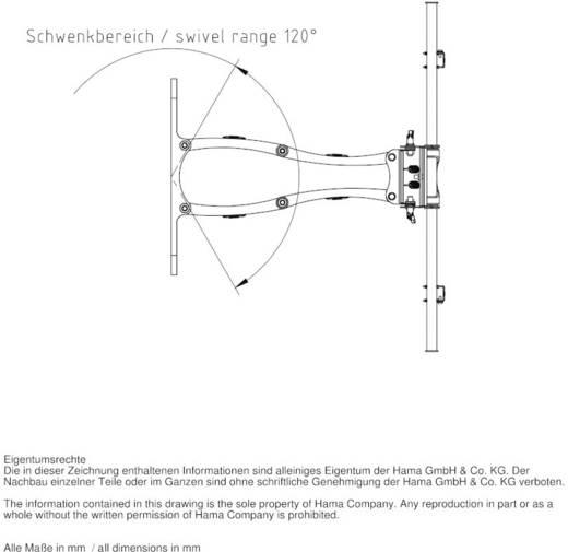 """Hama TV-Wandhalterung FULLMOTION 94 - 160 cm (37"""" - 63"""") Weiß"""
