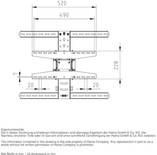 "TV-Wandhalterung 94,0 cm (37"") - 165,1 cm (65"") Neigbar+Schwenkbar, Rotierbar Hama FULLMOTION Ultraslim XL"