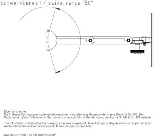 TV-Wandhalterung FULLMOTION, 5 Sterne, S, 2 Arme, Weiß