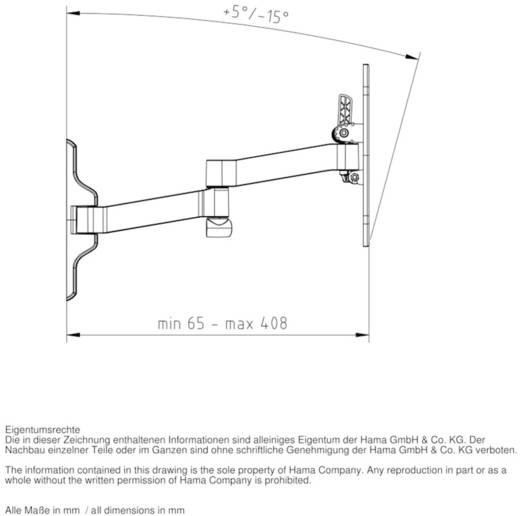 "TV-Wandhalterung 25,4 cm (10"") - 116,8 cm (46"") Neigbar+Schwenkbar, Rotierbar Hama FULLMOTION Ultraslim L"