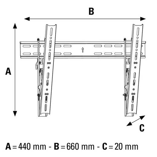 "TV-Wandhalterung 94,0 cm (37"") - 139,7 cm (55"") Neigbar, Rotierbar Hama MOTION"
