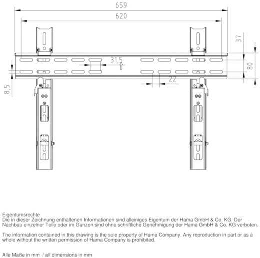 "TV-Wandhalterung 94,0 cm (37"") - 139,7 cm (55"") Neigbar, Rotierbar Hama MOTION ""Ultraslim"""