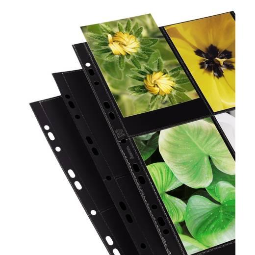 Fotohüllen Hochformat Schwarz 10 x 15 cm Hama
