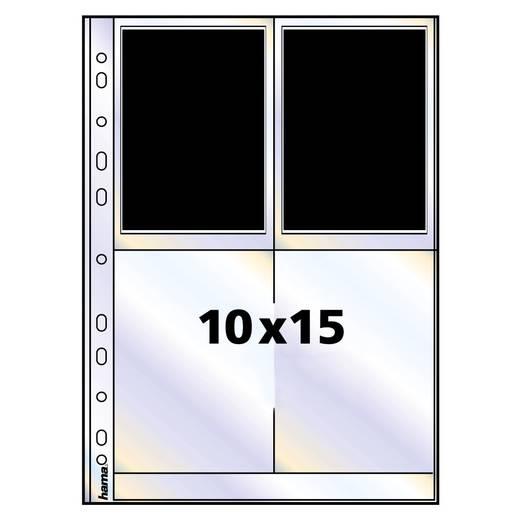 Fotohüllen Hochformat Schwarz 10 x 15 cm Hama 00009797