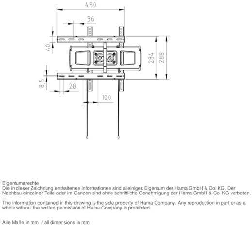 "TV-Wandhalterung 58,4 cm (23"") - 139,7 cm (55"") Neigbar+Schwenkbar, Rotierbar Hama FULLMOTION"