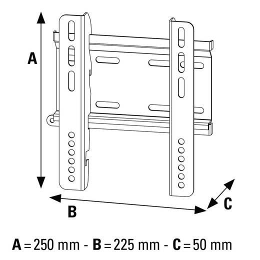 "Hama MOTION TV-Wandhalterung 25,4 cm (10"") - 116,8 cm (46"") Neigbar"