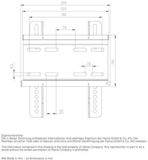 "TV-Wandhalterung 25,4 cm (10"") - 116,8 cm (46"") Neigbar Hama MOTION"
