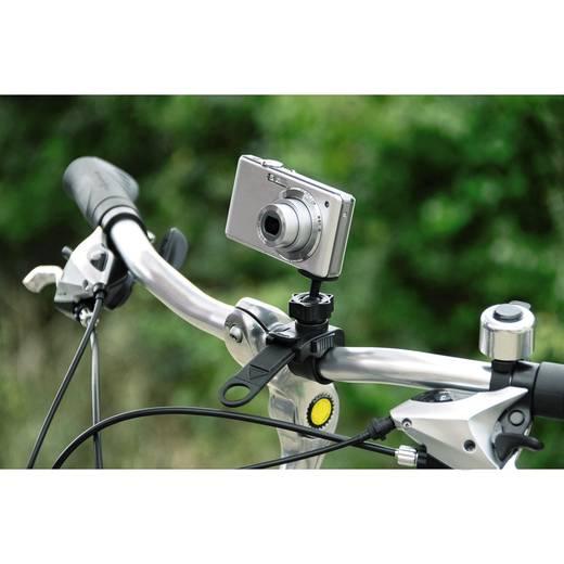 Spezialstativ Hama Bike Pod I 1/4 Zoll Arbeitshöhe=5 cm Schwarz 3D-Neiger, Kugelkopf