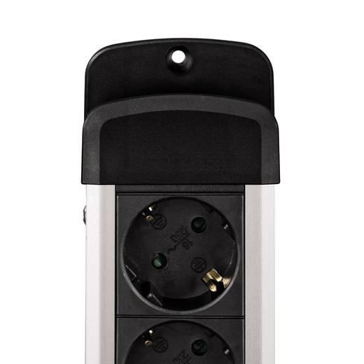 Steckdosenleiste mit Schalter 3fach Schwarz, Silber Schutzkontakt Hama 00047859