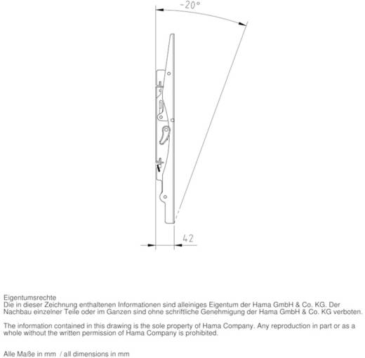 """Hama TV-Wandhalterung MOTION 58,4 - 106,7 cm (23"""" - 42"""") Schwarz"""