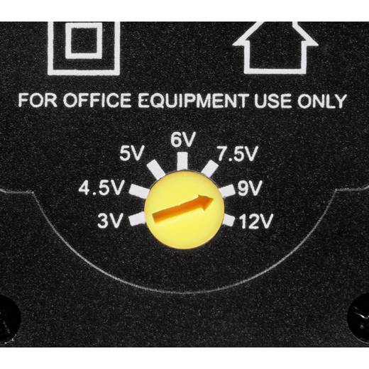 Hama 00046617 Steckernetzteil, einstellbar 3 V/DC, 4.5 V/DC, 5 V/DC, 6 V/DC, 7.5 V/DC, 9 V/DC, 12 V/DC 600 mA 7.2 W