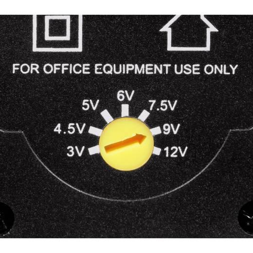Steckernetzteil, einstellbar Hama 00046617 3 V/DC, 4.5 V/DC, 5 V/DC, 6 V/DC, 7.5 V/DC, 9 V/DC, 12 V/DC 600 mA 7.2 W