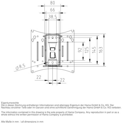 """Hama TV-Wandhalterung MOTION """"Ultraslim"""" 25,4 - 94 cm (10"""" - 37"""") Schwarz"""