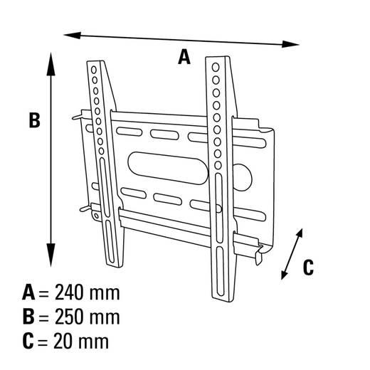 "TV-Wandhalterung 25,4 cm (10"") - 94,0 cm (37"") Starr Hama FIX"