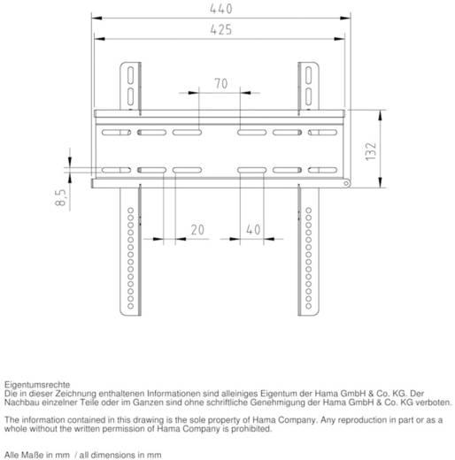 """Hama TV-Wandhalterung MOTION 51 - 106,7 cm (20"""" - 42"""") Schwarz"""