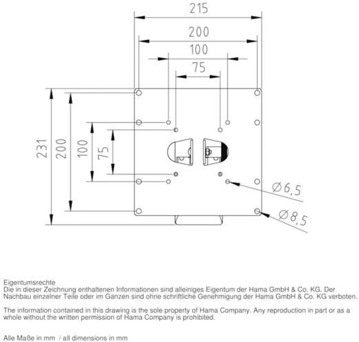 """Hama TV-Wandhalterung FULLMOTION 25,4 - 94 cm (10"""" - 37"""") Weiß"""