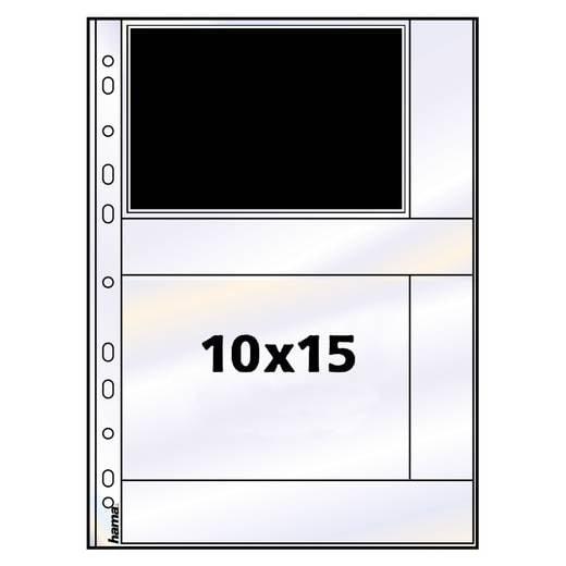 Fotohüllen Querformat Weiß 10 x 15 cm Hama 00009782