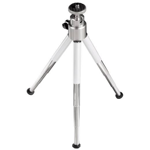 Ministativ Hama 00004071 1/4 Zoll Arbeitshöhe=10.5 - 19 cm Weiß, Silber 3D-Neiger