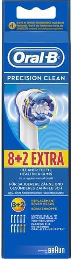 Aufsteckbürsten für elektrische Zahnbürste Oral-B Brosses Precision Clean 8+2 10 St. Weiß