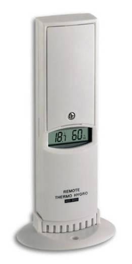 TFA Temperatur-/Luftfeuchte-Funksensor für HygroLogger, Passend für (Details) Feuchtigkeits-/Temperaturmessgerät, 10 07