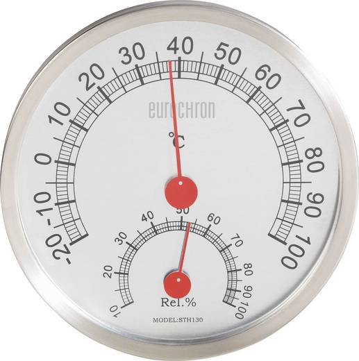 Wand Thermo-/Hygrometer Eurochron 671414 Silber