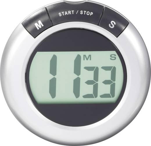 Timer KW-9058 Silber, Schwarz digital