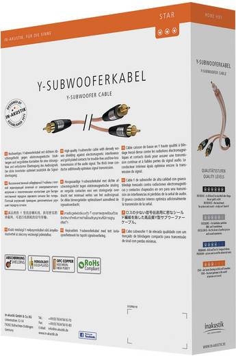Cinch Audio Anschlusskabel [2x Cinch-Stecker - 1x Cinch-Stecker] 2 m Transparent vergoldete Steckkontakte Inakustik