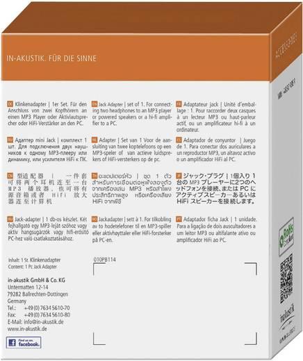 Klinke Audio Y-Kabel [1x Klinkenstecker 3.5 mm - 2x Klinkenbuchse 3.5 mm] 0.10 m Weiß Inakustik
