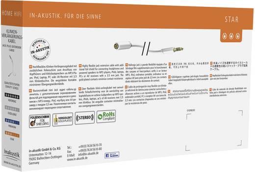 Klinke Audio Verlängerungskabel [1x Klinkenstecker 3.5 mm - 1x Klinkenbuchse 3.5 mm] 1.50 m Weiß vergoldete Steckkontakt